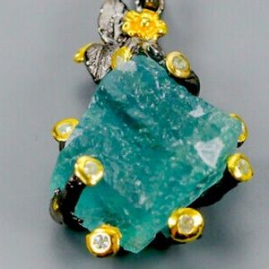 Jewelry - Natural Green Fluorite Pendant